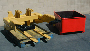Nut and bolt bin dumper